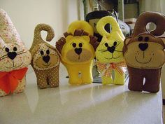 Hanging cats & dogs. Click on for pattern. Собачки - Любовь Старинова - Picasa Web Albums