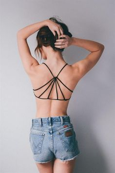 Our classic and on trend strappy bralette is a lingerie drawer essential. Pair it with low back dresses, racerback tanks, or anything honestly. P/S fits: M/L fits: Strappy Bralette, Black Bralette, Bralette Tops, Jules Boutique, Hippie Style, My Style, Low Back Dresses, Female Fitness, Outfits
