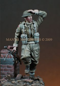 British infantryman, 1/35 scale  resin figure from Mantis Miniatures. Now in stock!