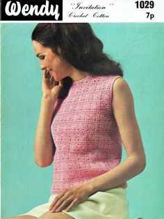 Pdf Vintage 1960s Womens Ladies Crochet Pattern SPIDER WEB