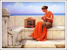 TICMUSart: A Song without Words - John William Godward (1919) (I.M.)