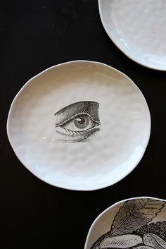 Handmade Ceramic Plate - Eye - Tableware - Kitchen