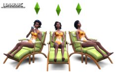 The Sims 4 Custom Content: Functional Lounge Chair - Sims Community
