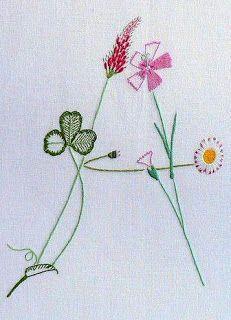 """Милые сердцу штучки: Вышивка гладью: Алфавит """"Полевые цветы"""" от Benedicte Reveilhac (Франция)"""