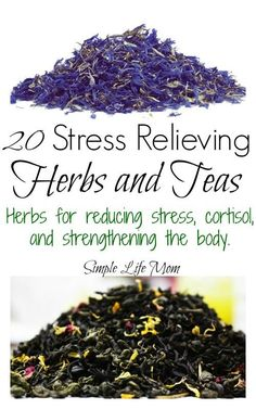 Remedies Natural 20 Stress Relieving Herbs and Teas from Simple Life Mom - Stress Relieving Herbs and Teas to calm the nervous system and strengthen the body. Teas are antioxidants, building up the body and reducing stress damage. Cold Home Remedies, Natural Health Remedies, Herbal Remedies, Sleep Remedies, Anxiety Remedies, Natural Medicine, Herbal Medicine, Cough Remedies For Adults, Homemade Tea