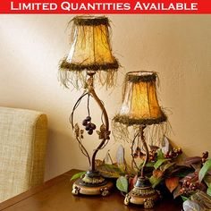 GRAPE TABLE LAMPS
