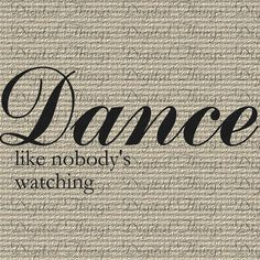 Words Dance Quote Inspirational Typography by by DigitalThings, $1.00