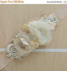 Correa marco nupcial marco florales de la boda cinta por LeFlowers