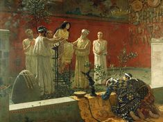 he Pythia, oracle from Delphi Painting by Camilo Miola