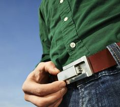 The Buckle Puffer is a tobacco pipe fully concealed in a belt buckle. The pipe utilizes patent pending magnetic closure technology and is made in the United States of America.
