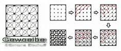 Auch dieses Muster bekam seinen Namen dadurch, dass es mich an die Kreuzgewölbe in gotischen Kirchen erinnert. Dieses Muster ist mein momentaner Favorit.