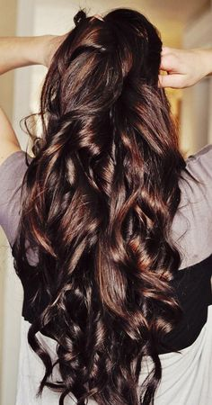 Brunette Curly Hairstyle for Long Hair