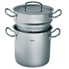 Fissler Multi Star Original Pro Collection Pasta Pot. Whether you prepare pasta dishes, mussels or spinach, our 18/10 stainless steel Multi-star is perfect for a variety of different cooking tasks.