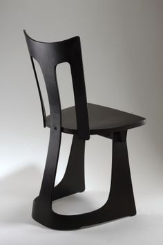 Jan Kurzątkowski; Lacquered Molded Plywood Chair, 1956.