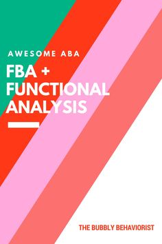 In my previous ABA post, I went over taking antecedent-behavior-consequence (ABC) . This is usually the first step before conducting a Functional Behavior Assessment (FBA)/Functional Analysis (FA).