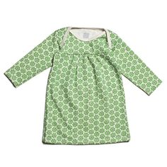 Rocking Horse Baby Dress - Mini Flowers Green