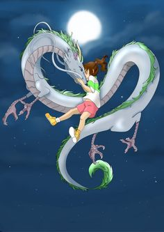 Spirited Away by LindaBurgess on DeviantArt Studio Ghibli Art, Studio Ghibli Movies, Animes Wallpapers, Cute Wallpapers, Chihiro Y Haku, Ghibli Tattoo, Hayao Miyazaki, Dragon Art, Totoro