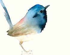 Bird Art Print from Original Watercolor by dearpumpernickel