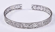 925 Solid Sterling Silver Bangle Stylish Jali Work Easy to Sizable JSBG-28 #Handmade #Bangle