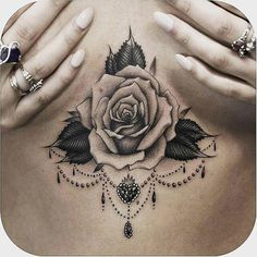 With a gorgeous tattoo you'll never look at underboob the same way again.