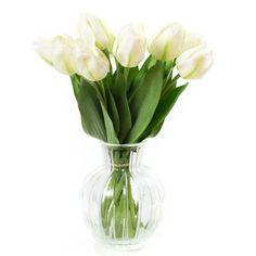 """Композиция """"Белые тюльпаны"""", 42см"""