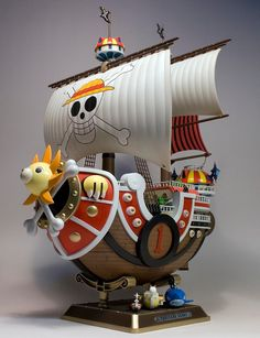 Thousand Sunny One Piece Theme, One Piece Logo, Anime Figures, Action Figures, Figurine One Piece, Dragon Ball, One Piece Seasons, Bateau Pirate, Otaku