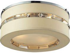 Elk Lighting Regis Polished Chrome Four-Light 15'' Wide Semi-Flush Mount Light