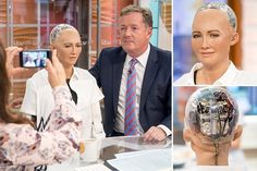 Sophia the human robot scared Piers and Susanna on Good Morning England
