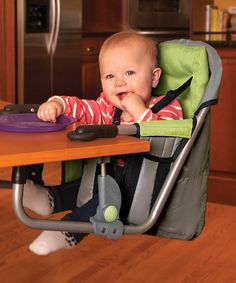 Another great find on #zulily! Green Easy Diner Portable Hook-on High Chair #zulilyfinds
