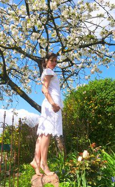 sommerliches Baumwollkleid, das Schnittmuster #Noa stammt aus der Feder vom Kreativlabor Berlin,
