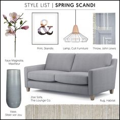 Style List - Summer Scandi | Give Scandi style a Spring clean with the addition of faded pastels and stylish seasonal blooms... #theloungeco #sofa #lounge #scandi #springscandi #pastels #retro #interiorstyling #interiordesign #interiorinspiration