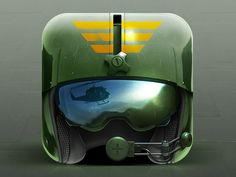 This is one of the first icons I noticed the scene happening in front of the helmet because of the reflection in the goggles of the helmet.