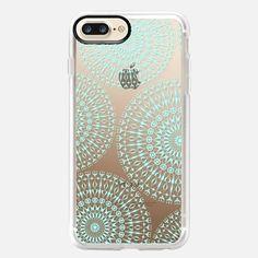 aqua mandalas - Snap Case iphonecase#, #iphonecover , #mandala  #aqua #geometric  #clearcase  #case , #casetify