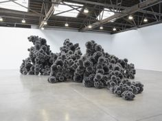 """Tara Donovan, """"Untitled (Mylar)"""", 2011.  We were lucky enough to see this giant installation in progress at Donovan's studio.  Her ability to transform raw materials into sublime art is incredible."""