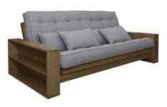 ofá-cama Spirit, da Futon Company, com futon Sharp em Ecolona 100% reciclada, estrutura de madeira maciça em pronta entrega, futon customizado sob encomenda, de R$ 5.549 por R$ 4.439,80 (Foto: Divulgação)