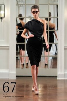 Black Victoria Beckham dress.  I love wearing black.  If I ever get married, I wouldn't mind if people wore black to my wedding.