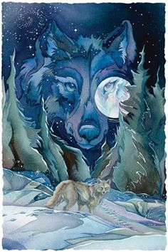 wolf jody bergsma - All paths lead to the stars Wolf Painting, Painting & Drawing, Wolf Spirit, Spirit Animal, Native Art, Native American Art, Art Magique, She Wolf, To Infinity And Beyond