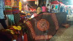 Scarf seller from Gujrat at the Flea Market  #bangalore #fleamarket #india #scarf #gujrat
