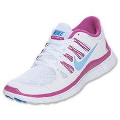 RDT6 Damen Nike Free 5.0+ Laufschuhe Weiß/Club Rosa