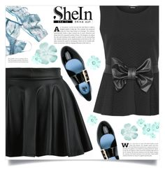 """Shein -skirt-"" by dolly-valkyrie ❤ liked on Polyvore featuring WithChic, WearAll, Lanvin, Sheinside and shein"