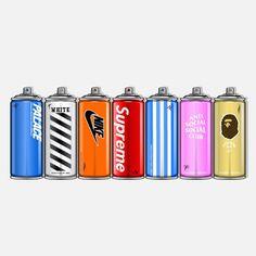 Spray Away - no. Hype Wallpaper, Cool Wallpaper, Iphone Wallpaper, Sneakers Wallpaper, Shoes Wallpaper, Dope Cartoon Art, Dope Cartoons, Hypebeast Room, Trill Art