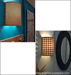 How to make a DIY wall lamp/sconce with customizable shades