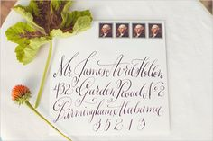 wedding calligraphy--- it's too bad we all don't naturally write this beautifully! Calligraphy Print, Learn Calligraphy, Wedding Calligraphy, Wedding Stationary, Wedding Invitations, Invites, Typography Letters, Hand Lettering, Wedding Ideas