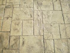 Limestone (stamped and stained concrete sidewalk)