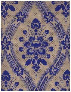 Åbergsgården kvistpapper Damask, Kitchen Wallpaper, Textile Design, Pattern Wallpaper, Wallpaper, Hand Printed Wallpaper, Floral Prints, Miniatures Tutorials, Bohemian Rug