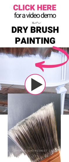 Dry Brush Painting Technique That Makes Furniture Look Like Art! Pallet Furniture Designs, Pallet Patio Furniture, Diy Furniture Projects, Furniture Making, Diy Projects, Hand Painted Furniture, Paint Furniture, Furniture Makeover, Sanding Furniture