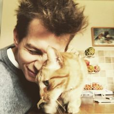 James Daniel McVey and Mickey the cat