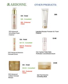 Arbonne products are highly concentrated so a little bit goes a long way!