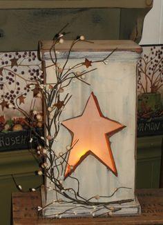 star wooden light box