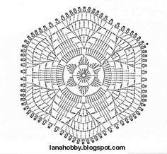 Hexagono flor centro